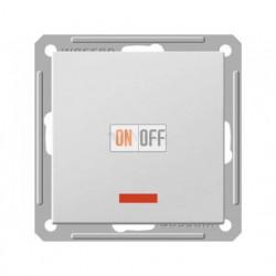 Переключатель одноклавишный с подсветкой (вкл/выкл с 2-х мест) 16 А 250 В, Schneider W59 белый VS616-157-1-86