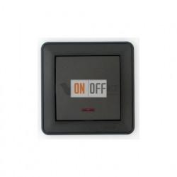 Выключатель одноклавишный перекрестный с подсветкой (вкл/выкл с 3-х мест) 16 А 250 В, Schneider W59 черный бархат VS716-159-6-86