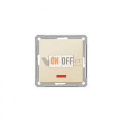 Выключатель одноклавишный с подсветкой 16 А 250 В, Schneider W59 слоновая кость VS116-153-2-86