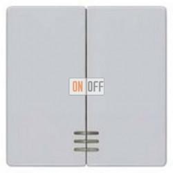 Выключатель 2-клав. с подсветкой (алюминий) 5TG6244 - 5TG7333 - 5TA2155