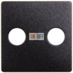 Розетка TV FM оконечная (черный-металлик) S2900 - 5TG1223