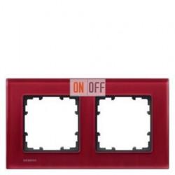 Delta Miro Рамка 2-я (стекло - красное) 5TG12023