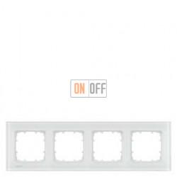 Delta Miro Рамка 4-я (стекло - белое) 5TG12041