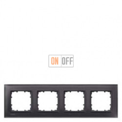 Delta Miro Рамка 4-я (стекло - черное) 5TG12042