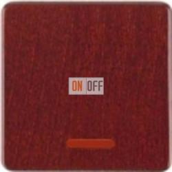 Delta natur Переключатель 1-клав. с подсветкой (красный клен) 5TG7680 - 5TG7333 - 5TA2156