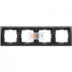 Delta style Рамка 4-я (базальт черный) 5TG1364