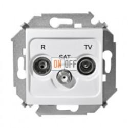Розетка R-TV-SAT одиночная, белый 1591466-030