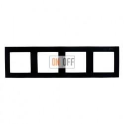 Рамка на 4 поста, чёрный 1500640-032