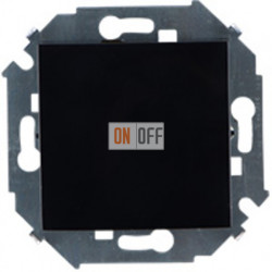 Одноклавишный перекрестный выключатель (с 3-х мест), 16А, 250В, винтовой зажим (чёрный) 1591251-032
