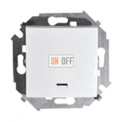 Одноклавишный выключатель Simon 15 с подсветкой (белый) 1591104-030
