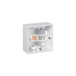 Коробка одинарная для накладного монтажа, 1 пост, белый 1590751-030