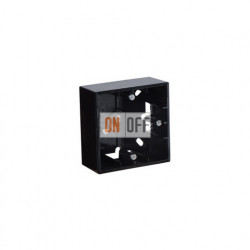 Коробка одинарнаядля накладного монтажа, 1 пост, чёрный глянец 1590751-032