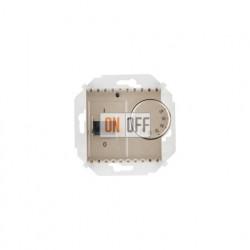 Терморегулятор для теплого пола с датчиком, 16А, 230В, 3600Вт, шампань 1591775-034