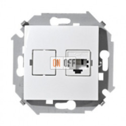 Компьютерная розетка Simon 15 RJ-45 (белая) 1591598-030