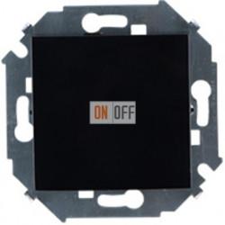 Одноклавишный выключатель Simon 15 (чёрный) 1591101-032