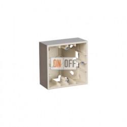 Коробка одинарная для накладного монтажа, 1 пост, шампань 1590751-034