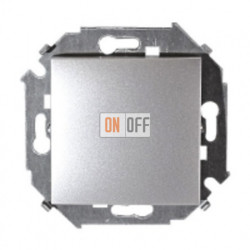Выключатель проходной с 3-х мест (перекрёстный), 16А, 250В алюминий 1591251-033