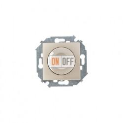 Светорегулятор поворотно-нажимной, проходной, 500Вт 230В,винт. Зажим, шампань 1591790-034