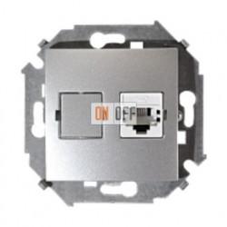 Телефонная розетка Simon 15 RJ-11 (алюминий) 1591480-033