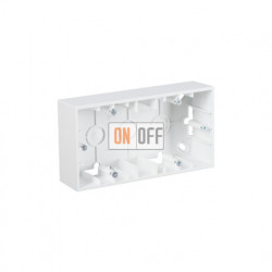 Коробка двойная для накладного монтажа, 2 поста, белый 1590752-030