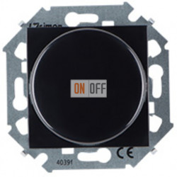Светорегулятор поворотно-нажимной, проходной, 500Вт 230В,винт. Зажим, черный 1591790-032
