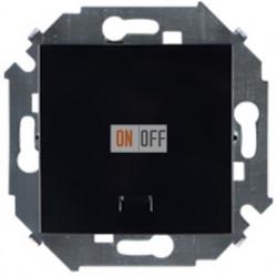 Одноклавишный выключатель Simon 15 с подсветкой (чёрный) 1591104-032