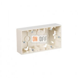 Коробка двойная для накладного монтажа, 2 поста, слоновая кость 1590752-031