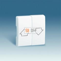 Клавишный выключатель для жалюзи Simon 27 с механической блокировкой (белый) 75332-39 - 27028-35