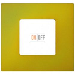 Рамка-декор 1 постовая Артик Жёлтый 2700617-081