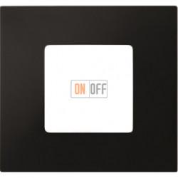 Рамка-декор 1 постовая Черный 2700617-071