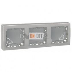 Рамка тройная для горизонтальной установки Simon 73 Loft, алюминий 73630-63