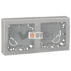 Рамка двойная для горизонтальной установки Simon 73 Loft, алюминий 73620-63