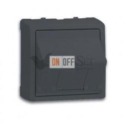 Розетка интернет одинарная 5 кат. Simon 73 Loft, графит 75540-39 - 73085-62