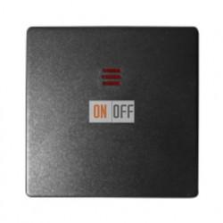 Одноклавишный выключатель с подсветкой Simon 82 (графит) 75104-39 - 82011-38