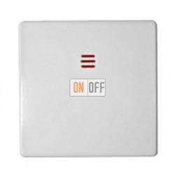 Одноклавишный перекрестный выключатель( с трёх мест) c подсветкой Simon 82 (белый) 75254-39 - 82011-30