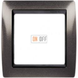 Рамка Simon 82 на 1 пост - серый гранит с черной вставкой 82814-60