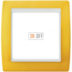 Рамка Simon 82 на 1 пост (желтый) 82612-62
