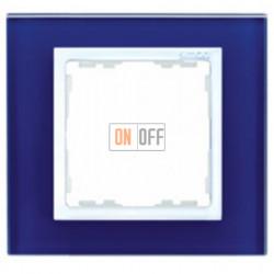Рамка Simon 82 на 1 пост (синее стекло) 82617-64