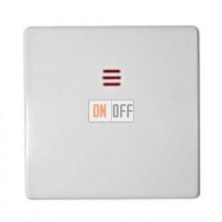 Одноклавишный выключатель с подсветкой Simon 82 (белый) 75104-39 - 82011-30