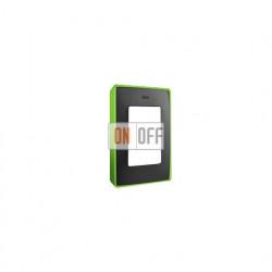 Рамка Simon 82 Detail Неон, 1 пост (графит с неоново-зеленым основанием) 8201610-260
