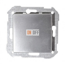 Одноклавишный выключатель Simon 82 (алюминий) 75101-39 - 82010-33