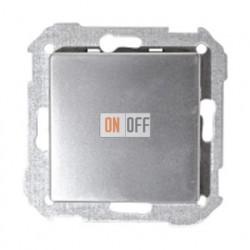 Одноклавишный проходной выключатель (из 2-х мест) Simon 82 (алюминий) 75201-39 - 82010-33