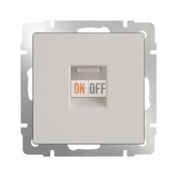 Интернет розетка одинарная 5 категории RJ-45, Werkel слоновая кость a028896