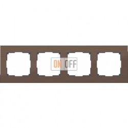 Рамка четверная Werkel Aluminium, коричневый алюминий a033748