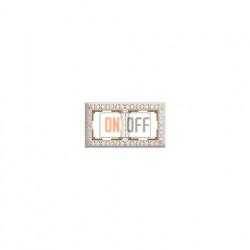Рамка двойная Werkel Antik, белое золото a036749