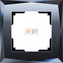 Рамка одинарная Werkel Diamant, черное стекло a029843