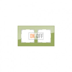 Рамка двойная Werkel Werkel Favorit, фисташковое стекло a036588