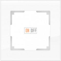 Рамка одинарная Werkel Favorit, белое стекло a030819