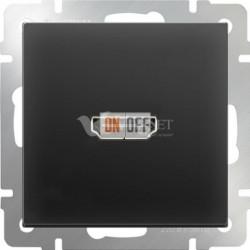 Розетка HDMI Werkel, черный матовый a036559