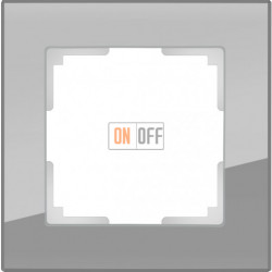 Рамка одинарная Werkel Favorit, серое стекло a030774